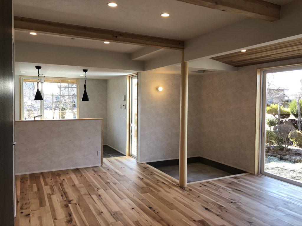 F様邸施工事例 開放的なリビング 八戸市 リノベーション ぐっとリノベ